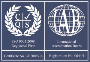ISO9001:2008 - Accredited company